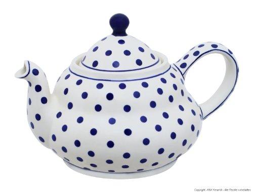 Original Bunzlauer Keramik Teekanne 2.0 Liter mit integriertem Sieb im Dekor 37