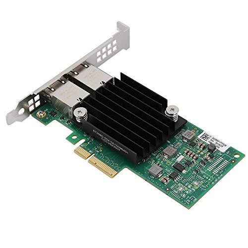 ASHATA Tarjeta Adaptadora de Red Ethernet de 10 Gbps - para el Controlador Intel X550-T2 Tarjeta de Interfaz de Red (Nic) Adaptador de LAN PCI Express X8