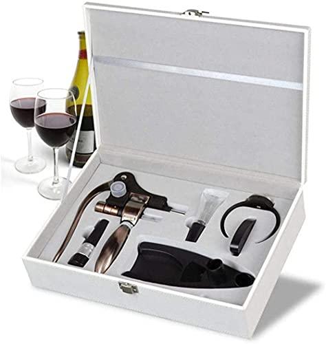 Juego de abrebotellas en forma de conejo, abrebotellas de aleación de zinc simple abridor de botellas de vino de acero inoxidable, caja de regalo (juego de 7)