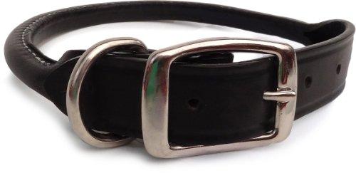 Auburn Leathercraft Rolled Collar 1/2' x 12' BLACK