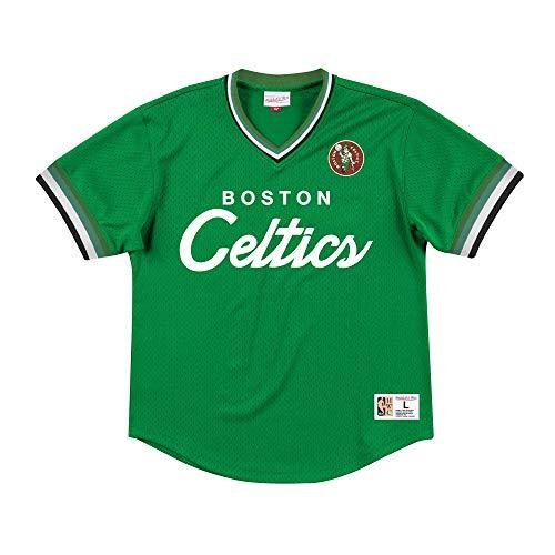 Mitchell&Ness M&N Special Script Mesh V-Neck Retro de con una Pegatina de 7kmh Boston Celtics M