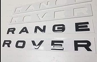 1PC New FORRangeRover Gloss black LETTERS HOOD TRUNK TAILGATE EMBLEM BADGE (Gloss black)