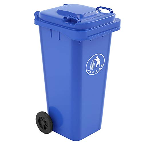 Best Buy! WDDLD Outdoor Trash can, Thick Plastic Recycling bin Large Capacity with Pulleys Load-Bear...