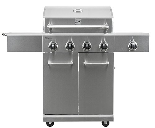 Kenmore  PG-40405S0LA Stainless Steel 4 Burner Outdoor Patio Gas BBQ Propane Grill With Side Burner in , Stainless Steel a Grills Products Service Smokers with