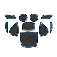 【LFOTPP改良品】2020 新型 YARIS CROSS SUV 専用 インテリアラバーマット ヤリスクロス ドアポケットマット ゴム製 すべり止め 裏面滑り止め加工 車種専用設計 パーツ (ブルー)
