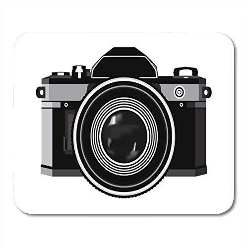 Mauspads Objektiv Fotografie Klassische Fotokamera Schwarzweißfotos Mauspad für Notebooks, Desktop-Computer Matten Büromaterial