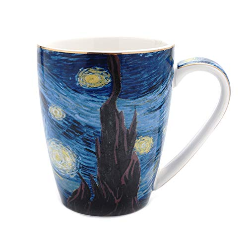 Coffeezone Vincent Van Gogh Art The Starry Night Porcelain Coffee Mug (14 oz)