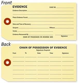 evidence tag printable