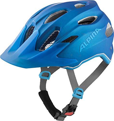 ALPINA Unisex - Kinder, CARAPAX JR. FLASH Fahrradhelm, true-blue matt, 51-56 cm
