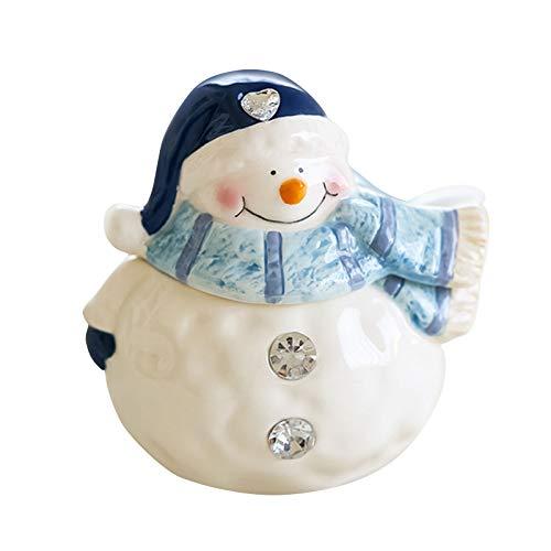 Juego de fiesta de Navidad – muñeco de nieve con sabor a botella de almacenamiento linda tetera, tazón de Navidad, botella de condimento, muñeco de nieve, aperitivo, lindo plato, set de vajilla