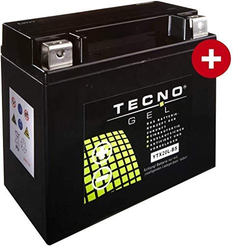YTX20L-BS TECNO GEL-Batterie für FXDF 1584 Dyna Fat Bob Baujahr 2008-2011