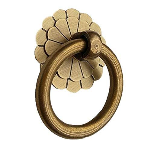 Cajón de la manija de la manija de la puerta manija de antigüedades de cobre antiguo de la manija de la puerta del gabinete Armario Armario Botiquín Tiradores Cajones Puertas de Gabinete
