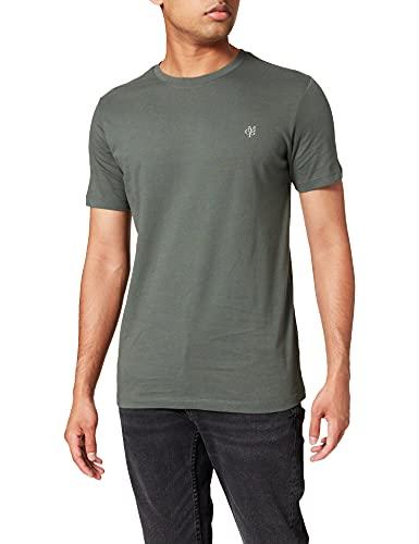 Marc O'Polo Herren 51068, Herren T-Shirt mit kleinem Logo-Print, bequemes Oberteil aus Bio Baumwolle, legeres Kurzarmshirt für Herren