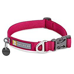 The Front Range everyday collar is durable, easy to use, and ideal for everyday walking and playing, coordinates perfectly with the Front Range Leash and Harness (sold separately) The durable Tubelok webbing is comfortable, hard-wearing, and colour-f...