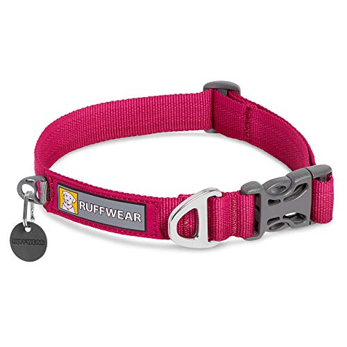 RUFFWEAR, Front Range Dog Collar, Durable and Comfortable Collar for Everyday Use, Hibiscus Pink, 14