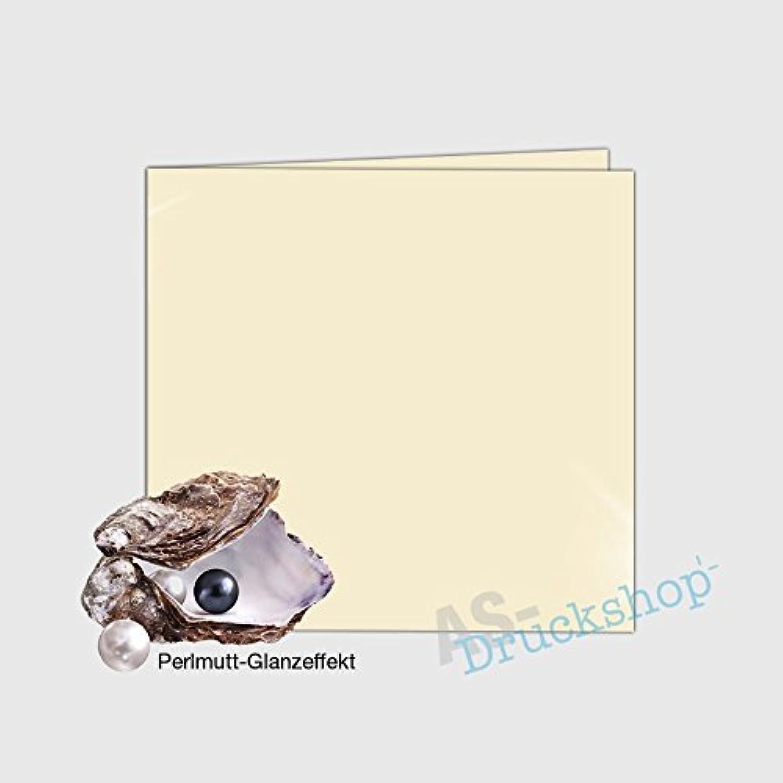 Faltkarte   Doppelkarte Doppelkarte Doppelkarte 155 x 155 mm -  Ivory  - mit Perlmutt-Glanz - 50 Stück B01N9T25Y6    Nutzen Sie Materialien voll aus  933560