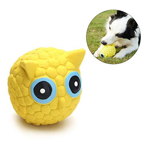 AYADA Hundespielzeug Quietschs Spielzeug, Kauspielzeug Hund Interaktives Spielzeug Quietschspielzeug Hund Dog Toy Intelligenz Spielzeug für Hund Latex Spielzeug (Eule)