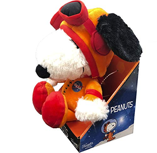 Peanuts - Plüsch 27cm Snoopy mit Blister Super weiche Qualität (Astronaut)