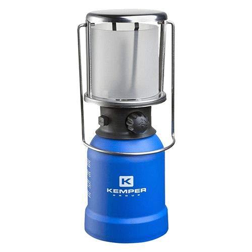 Lámpara de gas encendido piezoeléctrico.