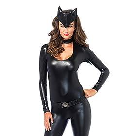 Leg Avenue Women's 3 Piece Frisky Feline Catsuit Costume