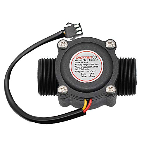 DIGITEN G3/4 Water Flow Hall Sensor Switch Flow Meter Flowmeter Counter 1-60L/min