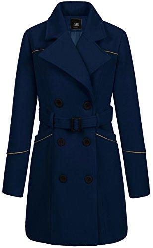 ZSHOW 여성용 더블 브레스트 옷깃 랩 코트가있는 벨트