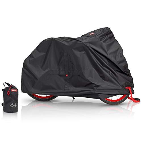 BARTSTR® Fahrradabdeckung wasserdicht - Extra stark & Extra UV-Schutz - Fahrradgarage Schutzhülle - Fahrrad Abdeckplane - Fahrradschutzhülle Fahrradträger