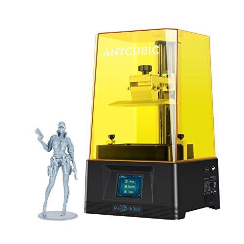 ANYCUBIC Stampante 3D Photon Mono, UV 3D Printer in resina LCD per polimerizzazione con schermo LCD monocromatico 2K, dimensioni di stampa 130 x 82 x 165 mm