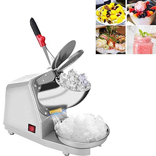 Best Price Electric ice shaver, 187lb/h double blade snow cone machine + domestic ice shaver and com...