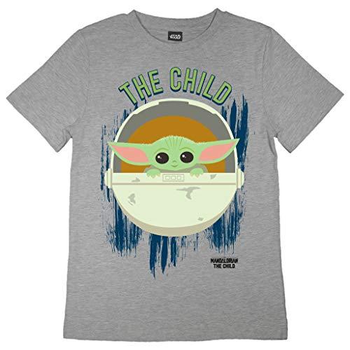 Star Wars The Mandalorian El Pod Niño Camiseta de los Muchachos Cuero Gris 116 | Las Edades de...