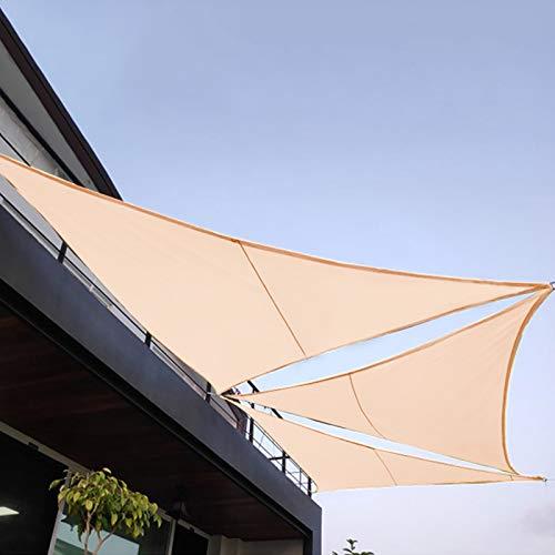 Sonnensegel, Triangle Sonne Shade Sail, Sonnenschutz Anti-UV-Sonnenschutz Oxford-Stoff im Freien für Carport, Terrasse, Deck Yard, Backyard, Lawn, Garten, Outdoor Activities(3.6 x 3.6 x 3.6m)