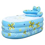 NXYJD Azul inflables Bañera de hidromasaje portátiles tinas portátiles ambientales for Adultos portátil Tina de baño Bañera Cuarto de baño for un Adulto