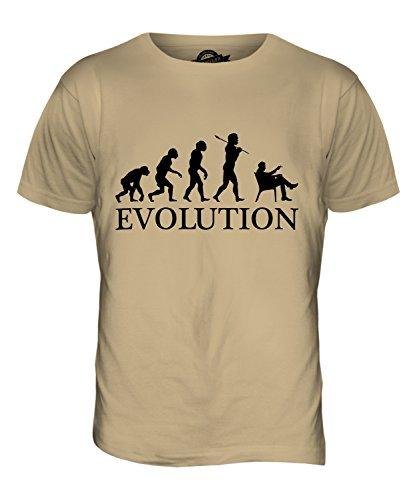 Candymix Zigarre Evolution des Menschen Herren T Shirt, Größe Small, Farbe Sand