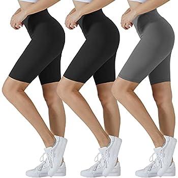 SanAogo Sports Yoga Dance Shorts Summer Athletic Shorts for Women Plus-Size Stretch Jersey Bike Short