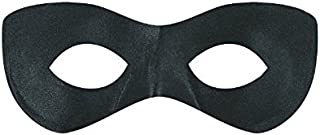 amscan Black Super Hero Mask, Party Accessory, Polyester Construction,12 Ct.