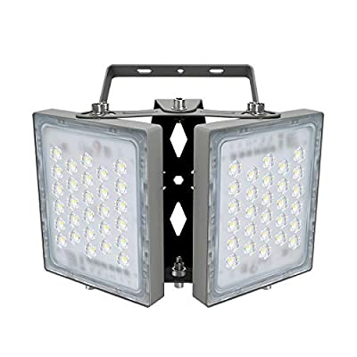 100W LED Flood Light, STASUN 9000lm Outdoor Security Lights with Wider Lighting Angle, 5000K Daylight, Adjustable Heads, IP65 Waterproof Outdoor Wall Lighting for Yard, Street, Warehouse