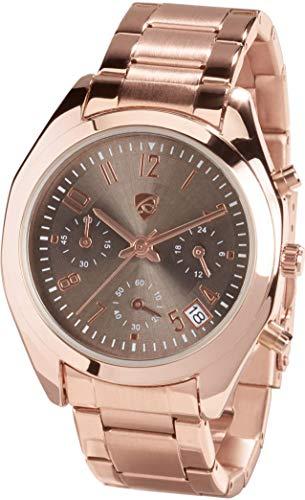 Golden Lutz® Damen Chronograph analog Quarz mit Gliederarmband (roségold) | Auriol
