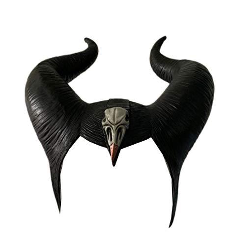 ValuePack Maleficent Hörner Maske Schwarze Königin Hexe Hörner Hut Kopfbedeckung 2019 Film Mistress of Evil Damen Cosplay Kostüm Zubehör für Halloween (Aktualisierte Version 2)