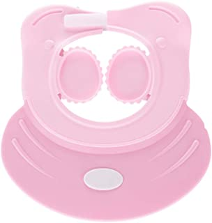 Baby Shampoo Shower Cap wash Bath Shield Visor Bathing tub Head Hair Rinser hat Protection Toddler and Kids (Pink)