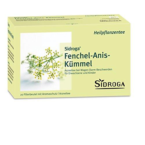 Sidroga Fenchel-Anis-Kümmel-Tee – Arzneitee mit Heilpflanzen bei Magen-Darm-Beschwerden – 20 Filterbeutel à 2,0 g