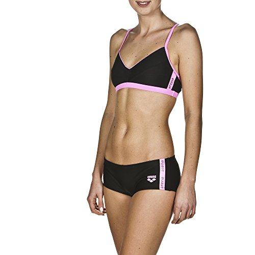 arena Damen Sport Bikini Hyper (Schnelltrocknend, UV-Schutz UPF 50+, Chlor-/Salzwasserbeständig), Black-Paparazzi (509), 40