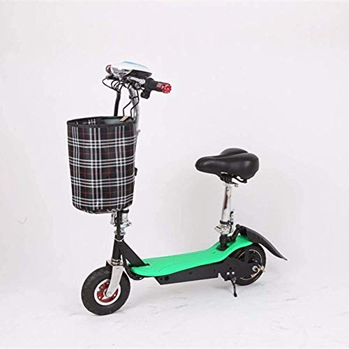 YYhkeby Scooter eléctrico Plegable, Velocidad y Altura de Scooter eléctrico eléctrico recreativo recreativo para Adultos E-Scooter Ligero Jialele ( Color : Green )