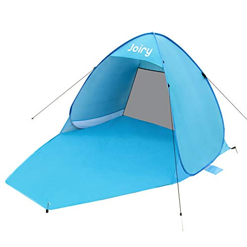 Joiry Pop Up Beach Tent, UPF 50 Portable Lightweight Beach Outdoor Sun Shelter, Waterproof Family Beach Shade Canopy Cabana 2-3 Person, Lightweight and Easy to Carry with Carry Bag, Sandbag,Stakes