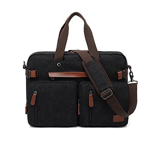 Zoo-yilnsgwb Borsa Porta Pc, Zaino da 15.6/17.3inch Backpack per Laptop, Zaino di Business di Viaggio di Moda, Zaino in Nylon Impermeabile antifurto Zaino (Color : CANVASBLACK, Size : 15 Inches)