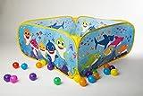 Baby Shark - Piscina de bolas para niños (interior y exterior, incluye 20 pelotas)
