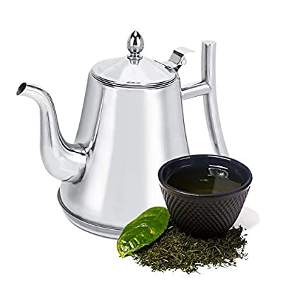 Coffee Kettle , Portable Stainless Steel Thickened Teapot with filter ,1.2L/1.8L/2.0L Gooseneck Spout Kettle Home Kitchen Tea Making Tools