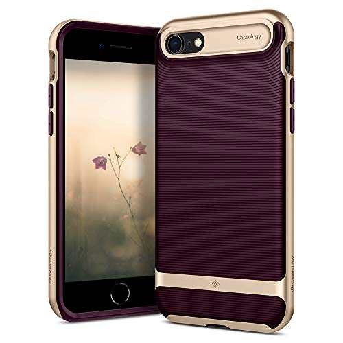 Caseology Wavelength for Apple iPhone 8 Case (2017) / for iPhone 7 Case (2016) - Stylish Grip Design - Burgundy
