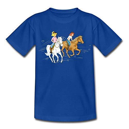 Bibi Und Tina Ausritt Mit Amadeus Und Sabrina Kinder T-Shirt, 110/116 (5-6 Jahre), Royalblau