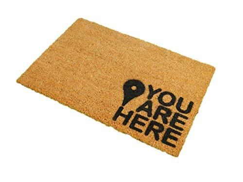 """Felpudo CKB Ltd® con el logo """"YOU ARE HERE"""" para puerta delantera/tra"""