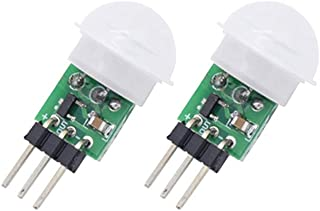 Onyehn IR Pyroelectric Infrared PIR Motion Sensor Detector Modules DC 2.7 to 12V(Pack of 2pcs)